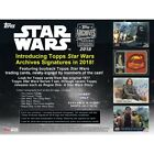 2018 Topps Star Wars Archives Signature Series Hobby 20-Box Case PRESALE 8 22 18