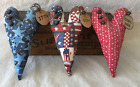 Primitive Ornies Hearts Americana Patriotic Prim Bowl Fillers Make Do's Nodders