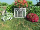 VINTAGE 13 PANE GLASS SASH WOOD WINDOW FRAME WEDDING SHABBY CHIC DISTRESSED