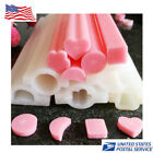 Diy Silicone Candle Soap Mould Templet Hand Craft 5 Pop Shapes Tube Column Molds