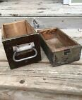 Set Of 2 Vintage Rustic Wooden Drawers Boxes
