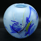 Handcrafted Swedish Glass Vase Round One of a Kind by Willy Andersson