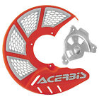 Acerbis X-Brake Vented Front Disc Cover with Mounting Kit 16 KTM Orange/White