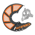 Acerbis X-Brake Vented Front Disc Cover with Mounting Kit Black/Orange