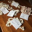 Vtg lot ivory crochet lace trim edging pillowcase doll sewing crafts various typ