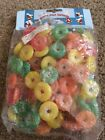 Vintage Sugar Coated Multi Colored Life Saver Candy Christmas Garland Plastic 9