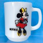 Minnie Mouse FIRE KING Mug Milk Glass Anchor Hocking Pepsi Off Register O