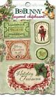 BoBunny Father Christmas Collection Layered Chipboard Glitter Accents