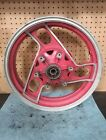 86 87 88 YAMAHA FJ1200 FJ 1200 OEM REAR RIM WHEEL wobbles red