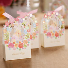 100pcs Favor Ribbon Gift Box Candy Boxes Wedding Boxes Gift Favor Flower Party