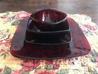 Vintage Anchor Hocking Royal Ruby Red Glass Plate Bowl Cup Saucer -6 Sets