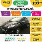 2016 BLACK FORD FIESTA 15 TDCI ZETEC 75 DIESEL 5DR HATCH CAR FINANCE FR 33 PW