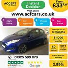 2016 BLUE FORD FIESTA 10 ECOBOOST 125 ST LINE 3DR HATCH CAR FINANCE FR 33 PW
