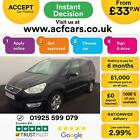 2011 BLACK FORD GALAXY 16 ECOBOOST ZETEC PETROL 7 SEAT CAR FINANCE FR 33 PW