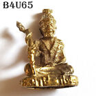 Brass Miniature Solid Brass HERMIT ASCETIC RUESI Thai Amulet /Free 2 pieces #65