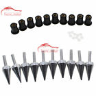 Universal M5 Fairing Windscreen Screw Bolt Kits Windshield Mounting Nuts Wellnut