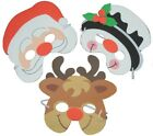 Christmas Santa Snowman Dress Up Foam Masks Childrens Nativity Fun Face Mask