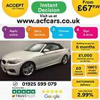 2015 WHITE BMW 220D 20 190 M SPORT DIESEL AUTO CONVERTIBLE CAR FINANCE FR 67PW