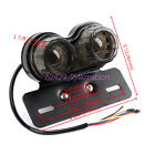 Motorcycle Twin Dual Tail Turn Signal Brake License Plate Integrated 25LED Light