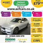 2015 SILVER BMW 335D 30 XDRIVE M SPORT DIESEL AUTO SALOON CAR FINANCE FR 79 PW