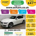 2014 WHITE BMW 320D 20 SPORT DIESEL AUTO SALOON CAR FINANCE FR 41 PW