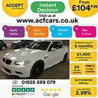 2013 WHITE BMW M3 40 V8 DCT 420 PETROL 2DR CONVERTIBLE CAR FINANCE FR 104 PW