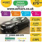 2015 BLACK BMW 435D 30 XDRIVE M SPORT DIESEL CONVERTIBLE CAR FINANCE FR 75 PW