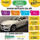2014 WHITE BMW 420D 20 M SPORT DIESEL AUTO 2DR COUPE CAR FINANCE FR 67 PW