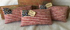 Primitive Ornies FLAG Pillows Americana Patriotic Prim Bowl Fillers Make Do's
