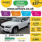 2014 WHITE BMW X1 20 SDRIVE16D SE DIESEL MANUAL ESTATE CAR FINANCE FR 37 PW