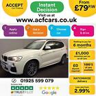 2014 WHITE BMW X3 20 XDRIVE20D M SPORT DIESEL AUTO ESTATE CAR FINANCE FR 79 PW