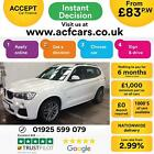 2015 WHITE BMW X3 20 XDRIVE20D M SPORT DIESEL AUTO ESTATE CAR FINANCE FR 83 PW