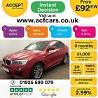 2015 RED BMW X4 20 XDRIVE20D M SPORT DIESEL AUTO COUPE CAR FINANCE FR 92 PW