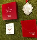 Our First Christmas Medallion Towle STERLING Ornament  New in Box