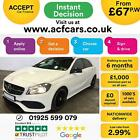 2016 WHITE MERCEDES A180 16 AMG LINE PETROL AUTO CAR FINANCE FR 67 PW
