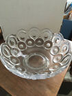 ANTIQUE CLEAR AND FROSTED  GLASS  BOWL-MOON AND STARS