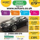 2013 BLACK MERCEDES C63 AMG 62 457 BHP PETROL AUTO COUPE CAR FINANCE FR 79 PW