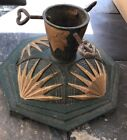Octagonal Cast Iron Tree Stand or Candle Holder Circa late 1800's Early 1900's