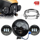 7'' LED Projector Headlamp+Spot Lamp For H-D Ultra Classic Firefighter SE FLHTCU