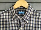 Howard Yount Slim Fit Madras Button Down Shirt 16x34