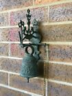 ANTIQUE  HANGING WALL MOUNT BELL PULL CHAIN Owl.