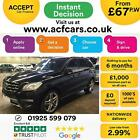 2012 BLACK MERCEDES ML350 30 CDI BLUETEC SPORT DIESEL AUTO CAR FINANCE FR 67PW