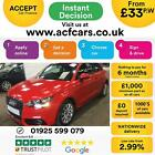 2011 RED AUDI A1 14 TFSI SPORT PETROL MANUAL 3DR CAR FINANCE FR 33 PW