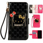 Cute Hello Kitty Wristlet Flip Wallet Case Cover For iPhone XS Max XR X 7 8 Plus