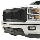 Black ABS Replacement Grille With  LED Ligths 14-15 Chevrolet Silverado 1500