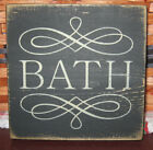 PRIMITIVE  COUNTRY  mini  sq  BATH SIGN