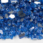 PREMIUM BLUE AQUA 1 2 Reflective Fireplace Fire Pit Fireglass Glass Crystals