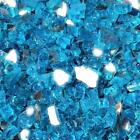 Caribbean Blue 1 2 Premium Reflective Fire Glass for Fireplace and Fire Pit