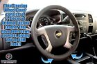2011 2012 Chevy Avalanche LT LS Z71 2500 Z66-Leather Steering Wheel Cover, Black