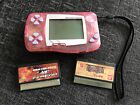 Wonderswan Crystal Pink Console With 2 Games  - Working Order